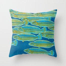 No Series-Tide Kasamatsu Shiro Japanese Woodblock Painting Asian Beautiful Ink Cultural Historic Vin Throw Pillow