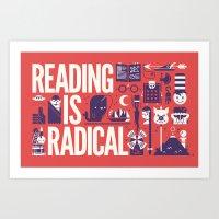 Reading is ... Art Print