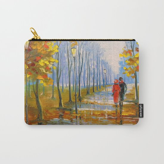 A walk in the Park after the rain Carry-All Pouch