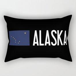 Alaska: Alaskan Flag & Alaska Rectangular Pillow