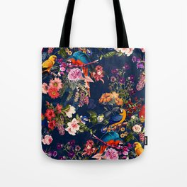 FLORAL AND BIRDS XII Tote Bag