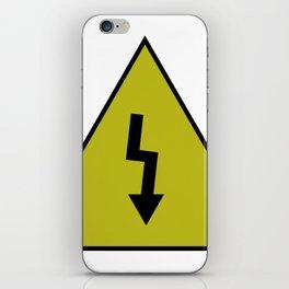 electric current danger signal iPhone Skin