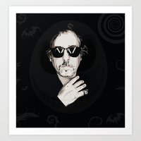 tim burton Art Prints featuring TIM BURTON by Rocky Rock