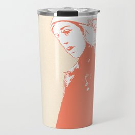 Woman Walks in the Streets of Paris Travel Mug