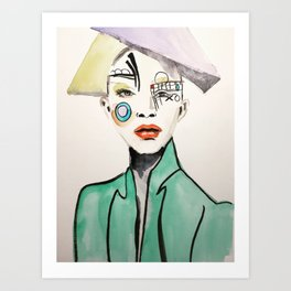 Mondrian's Girl Art Print