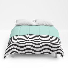 Waves of Green Comforters