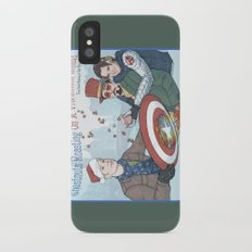 Superheroic Seasons Greetings (Chestnuts Roasting) iPhone X Slim Case