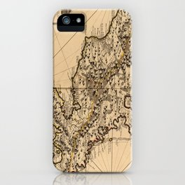 Vintage Map of Martinique Island (1742) 2 iPhone Case