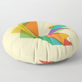 Fractal geometric Squirrel Floor Pillow