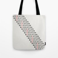 revolution Tote Bags featuring Revolution by Skye Zambrana