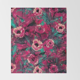 VS FLORAL VIII Throw Blanket