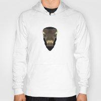 buffalo Hoodies featuring Buffalo by Alysha Dawn