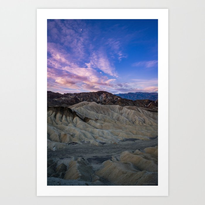 Death_Valley 5587 - Zabriskie_Point Sunrise Art Print