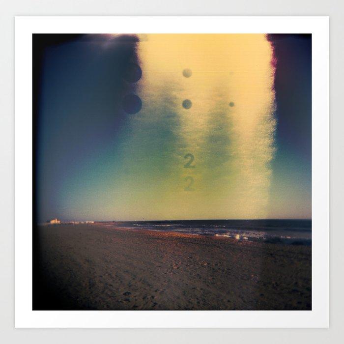 2D Beach Art Print