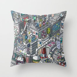The American Football Media Factory Throw Pillow