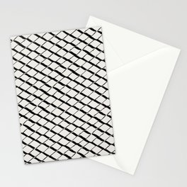 Modern Diamond Lattice 2 Black on Light Gray Stationery Cards