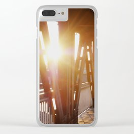where the light is Clear iPhone Case