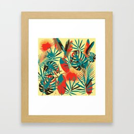 Abstract Exotique Leaves Framed Art Print