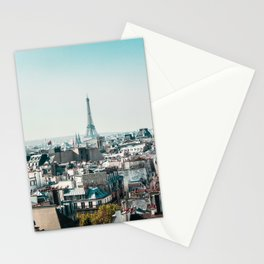 I <3 parisian rooftops. Stationery Cards