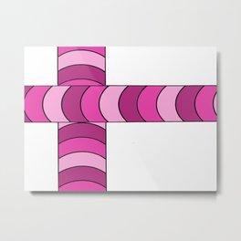 Blunt, in pink Metal Print