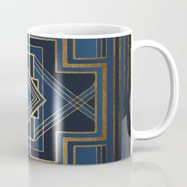 Art Deco Square Mondays In Blue Coffee Mug