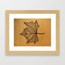 brown paper Framed Art Print