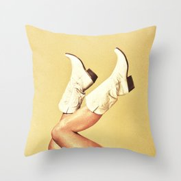 These Boots Throw Pillow