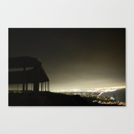 Temple at Moonfire Ranch: Night Time City View From the Mountain Canvas Print