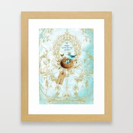 My nest is beautiful Framed Art Print
