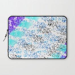 Sponge Print Blues/Purple/Black Laptop Sleeve