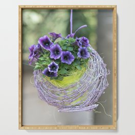 hanging bellflower for home decor Serving Tray
