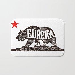 Eureka Bear — CA flag Bath Mat