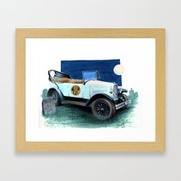 The Original Ghost Busters Whippet Framed Art Print