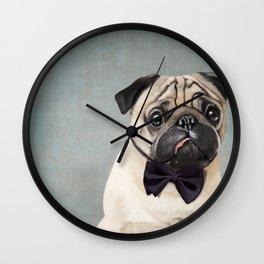 Mr Pug Wall Clock