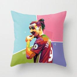 Zlatan Ibrahimovic alt-color WPAP Throw Pillow