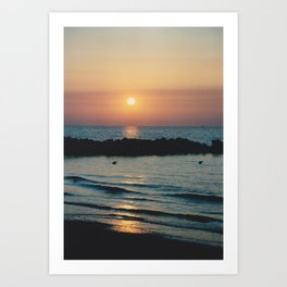 Sunset Ocean Bliss #1 #nature #art #society6 Art Print