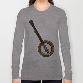 B is for Banjo, typed. Long Sleeve T-shirt