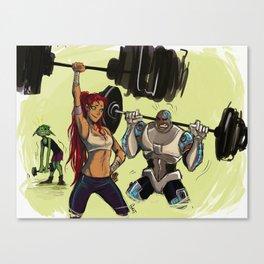Gym buddies Canvas Print