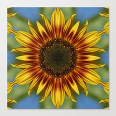 Sunflower Kaleidoscope Canvas Print