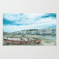 portugal Area & Throw Rugs featuring Portugal by Sandy Broenimann