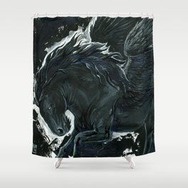 Dark Pegasus Shower Curtain
