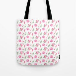 Tropical Chill Rose Pattern Tote Bag