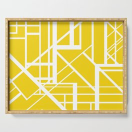 Roadway Of Abstraction - Interstate Abstract Path Serving Tray