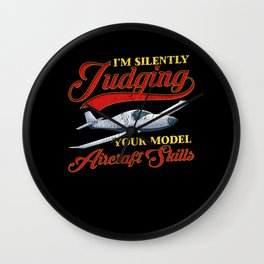 I'm Silently Judging Your Model Aircraft Skills. Funny Judgemental Radio Controlled Model Airplane Wall Clock