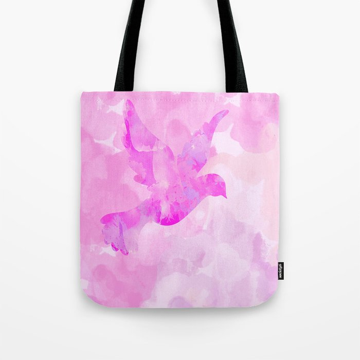 Abstract Flying Dove Tote Bag