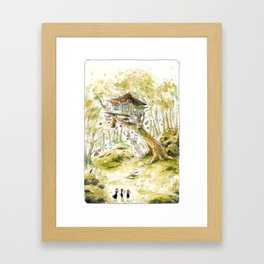 Bird Dude Dunlin's Home - Parsley Merlin and Beatrice Page Framed Art Print