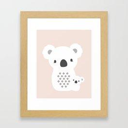 Mom&Baby Koala Framed Art Print
