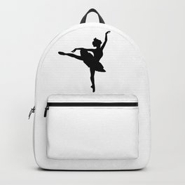 Ballerina silhouette (black) Backpack