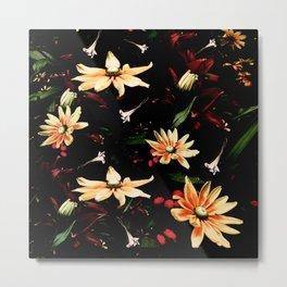 Floral Night II Metal Print
