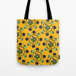 pop pattern_baseball Tote Bag